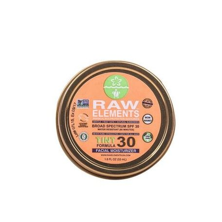 Raw Elements Sunscreen Tinted Facial Moisturizer SPF 30 Tin