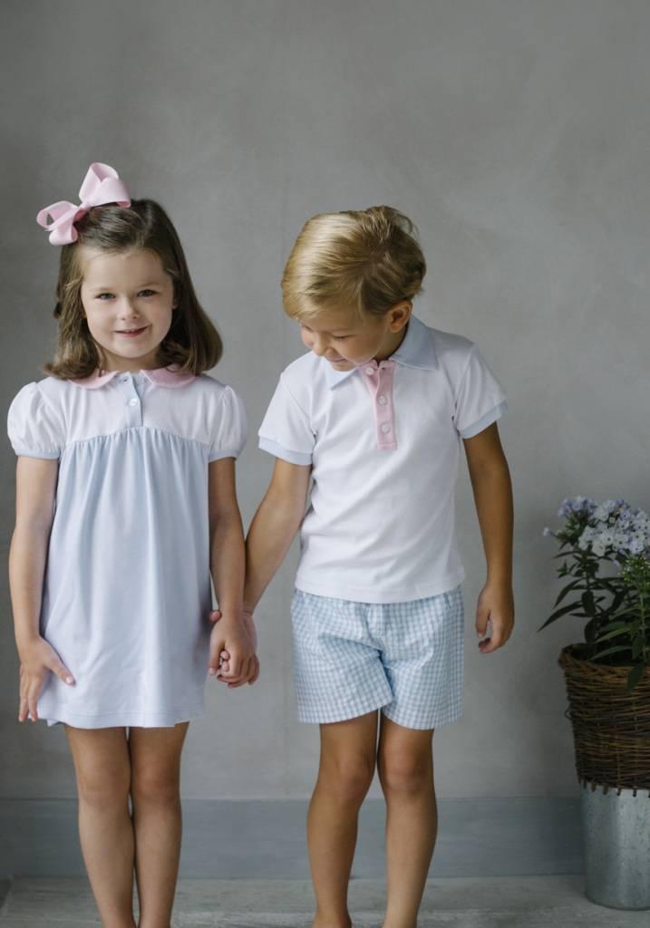 Little English Block Party Peter Pan Collar Dress Girl
