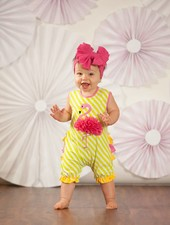 Molly & Millie Molly & Millie Flamingo Romper Infant