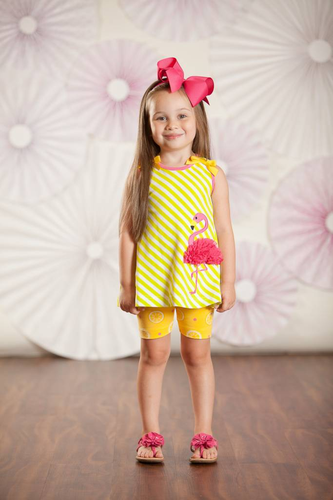 Molly & Millie Molly & Millie Flamingo Tunic with Bike Shorts Infant