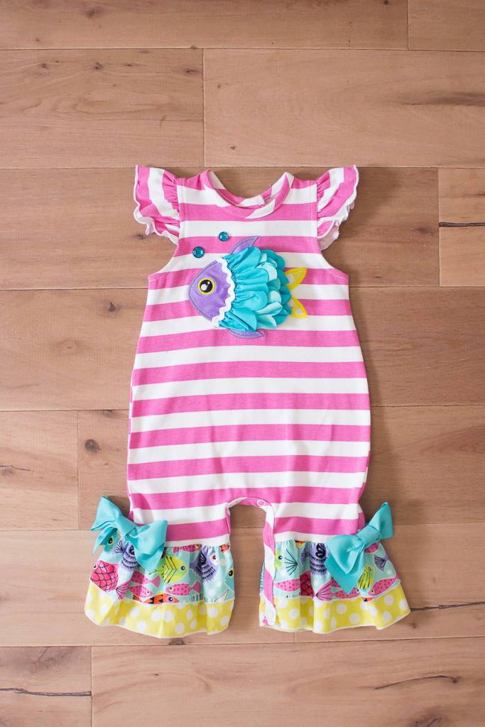 Molly & Millie Molly & Millie Fish Romper 12 months - 24 months
