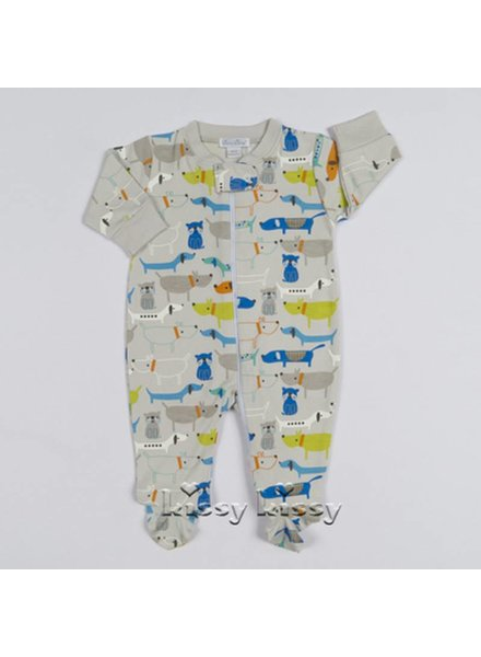 KISSY KISSY Dog Gone CutePrint Baby Boys Footie with Zipper