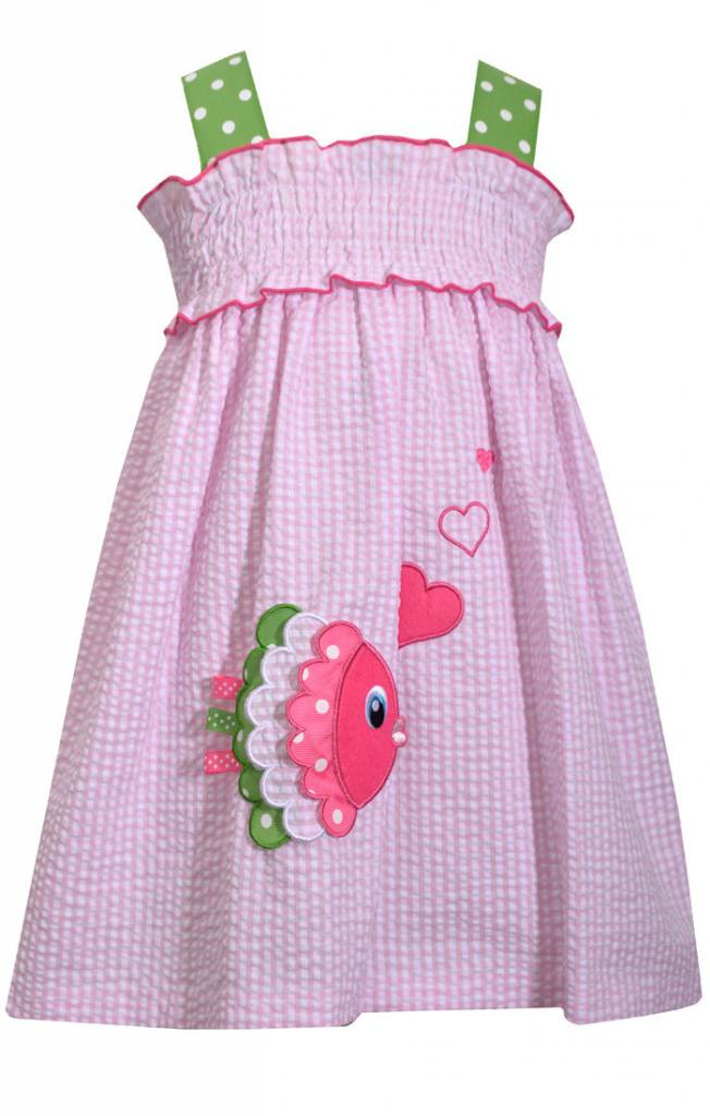 BONNIE JEAN Fish Appliqued Seersucker Sundress 2t-4t