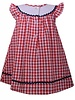 BONNIE JEAN Red Gingham Smocked Dress