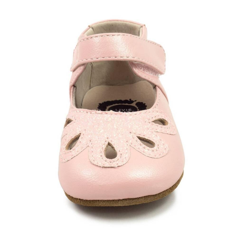 Livie & Luca Petal Mary Jane (Baby) Light Pink Shimmer
