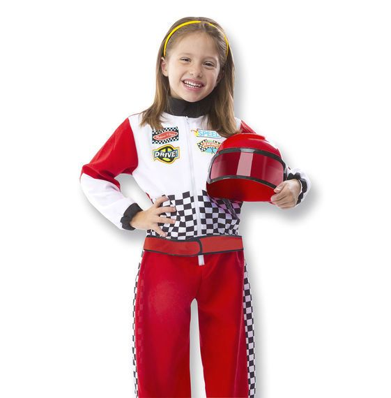 MELISSA & DOUG Race Car Role Play Costume 3-6years
