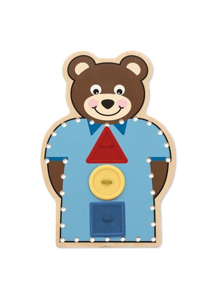 MELISSA & DOUG Pattern-Match Lacing Set - Button up Bear