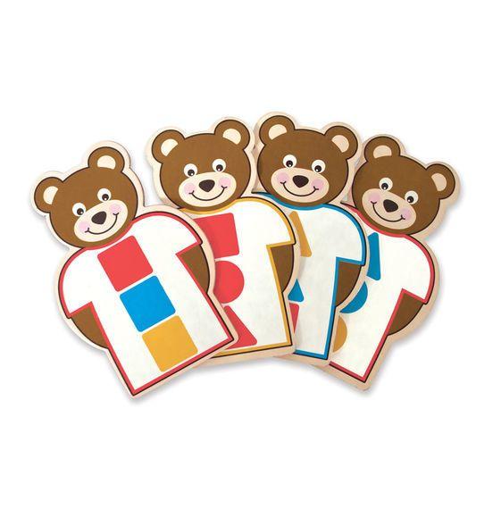 MELISSA & DOUG Pattern-Match Lacing Set - Button up Bear