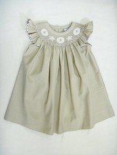 Three Sisters Smocked Seashells Angel Sleeve Bishop Dress