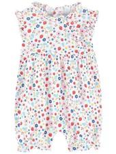 KISSY KISSY Strawberry Delight Print Sleeveless Pima Cotton Short Playsuit