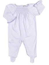 KISSY KISSY Lilac Blooms Print Smocked Footie