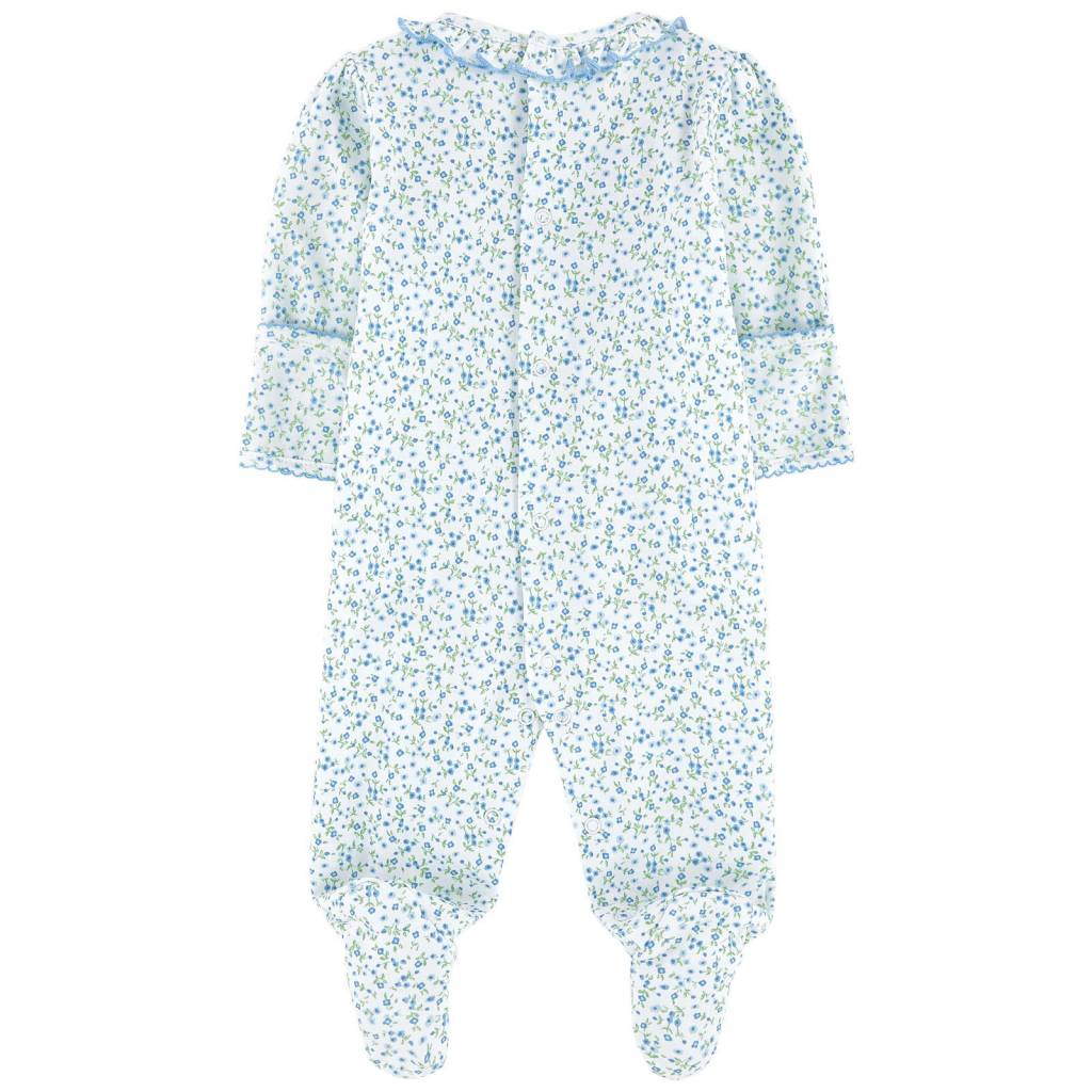 KISSY KISSY Spring Meadow Print Smocked Footie