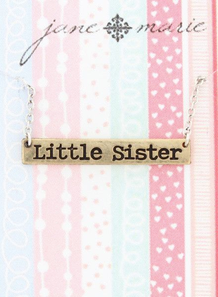 "JANE MARIE Little Sister Necklace (14"" with 2"" extender)"