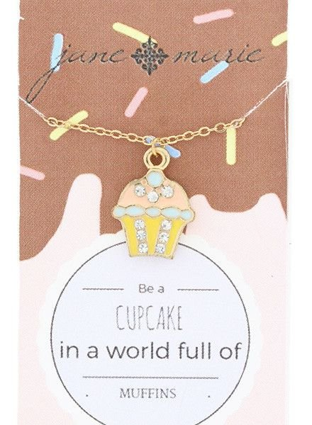 "JANE MARIE Cupcake Necklace (14"" with 2""extender)"