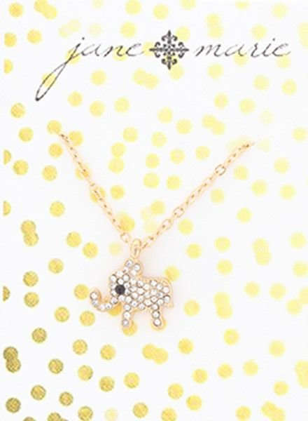 "JANE MARIE Elephant Necklace (14"" with 2""extender)"