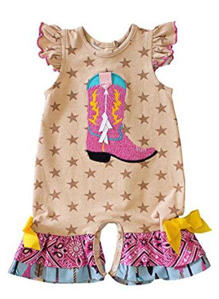 Molly & Millie Boot Scootin Romper