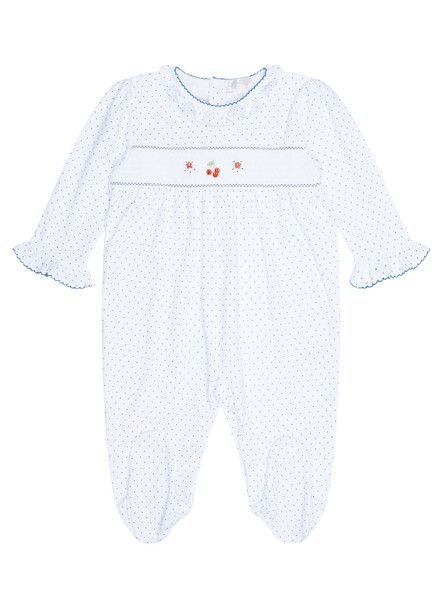KISSY KISSY Cherry Splendor Print Smocked Footie
