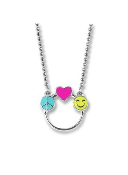CHARM-IT Peace, Love & Happiness Charm Catcher Necklace