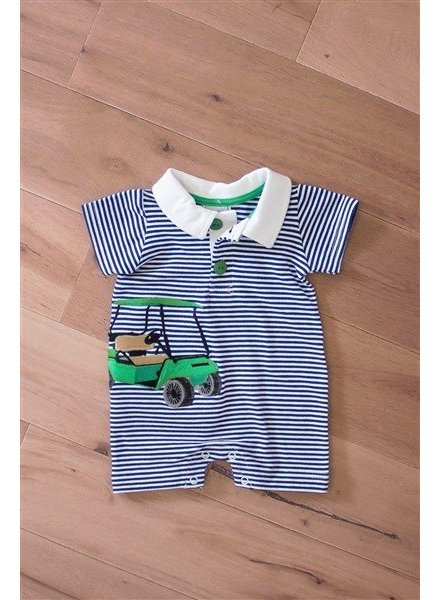 WALLY AND WILLIE Polo Appliqued Golf Cart Romper