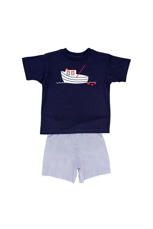 Bailey Boys Shrimp Boat Short Set