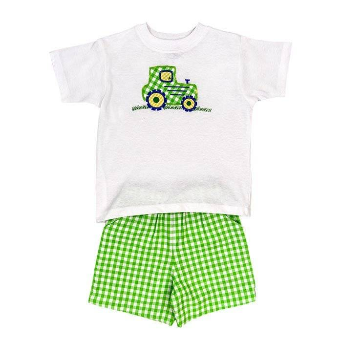 Bailey Boys Tractor Short Set