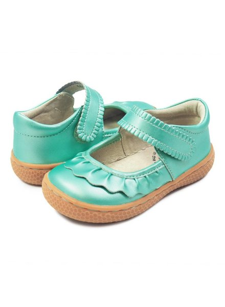 Livie & Luca Ruche Mary Jane Aqua Shimmer