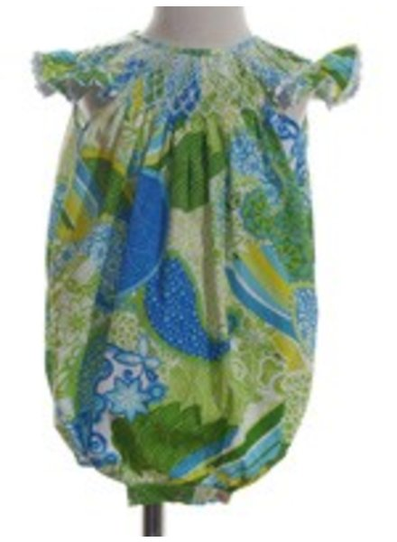 MOM & ME Smocked Paisley Pearl Bubble