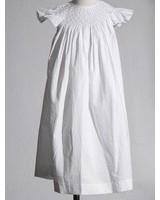 MOM & ME Smocked Pearl A/S Bishop Dress