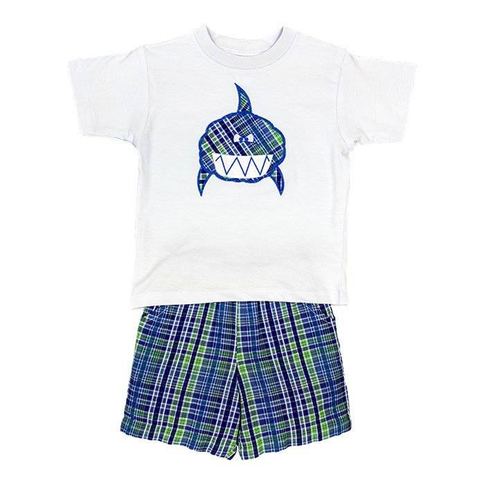 Bailey Boys Shark Short Set