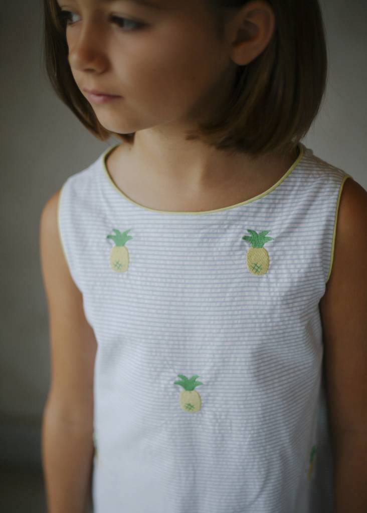Little English Embroidered Bow Back Dress