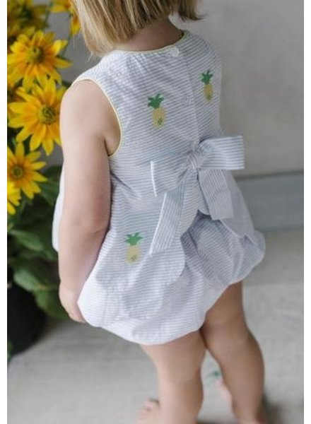 Little English Pineapple Bow Back Bloomer Set
