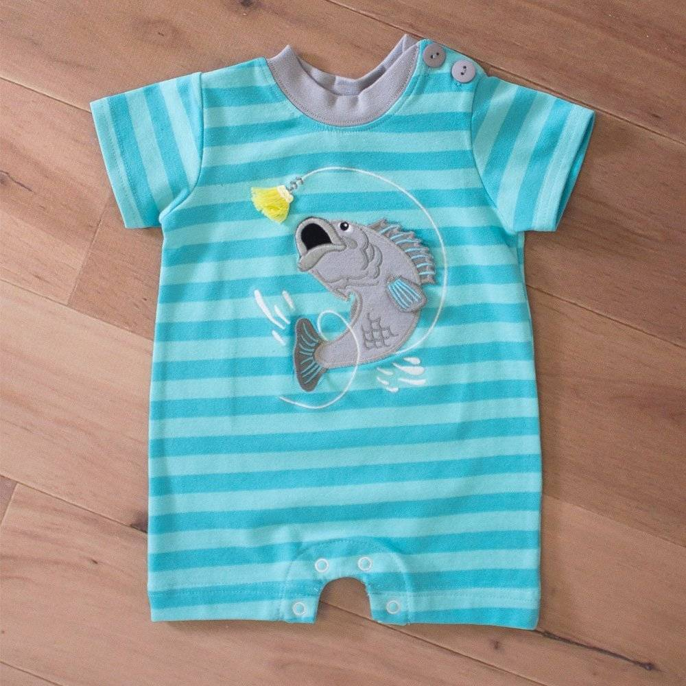 WALLY AND WILLIE Bass Raceway Blue Romper