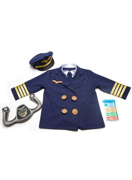 MELISSA & DOUG Pilot Role Play Costume (3-6 years)