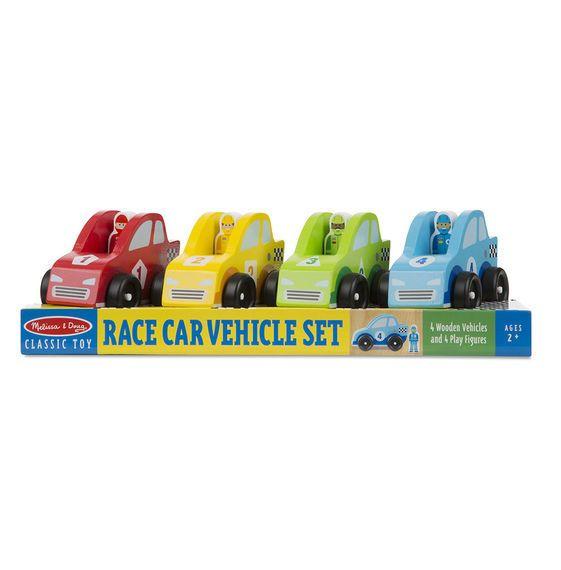 MELISSA & DOUG RACE CAR VEHICLE SET