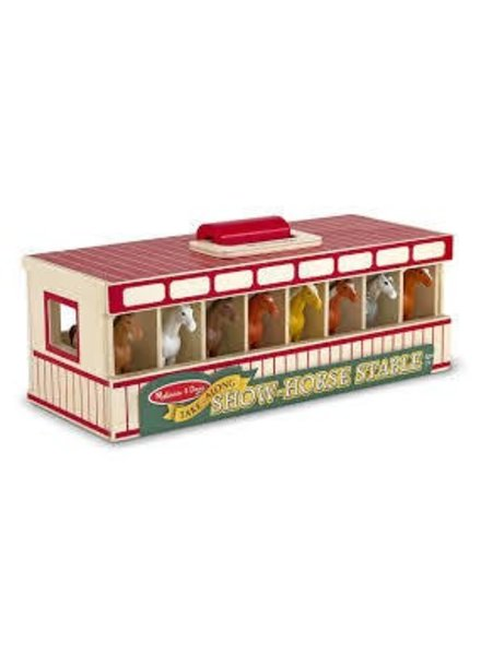 MELISSA & DOUG Take-Along Show Horse Stable