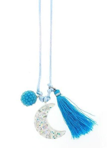 Sadie's Moon Moon Resin Necklace + Bookmark