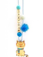 """Sadie's Moon """"Pawsome"""" Cat Necklace With Push Pop"""