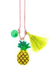 Sadie's Moon Pineapple Resin Necklace + Bookmark