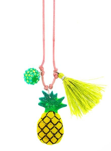 Sadie's Moon Pineapple Resin Necklace + Bookmark