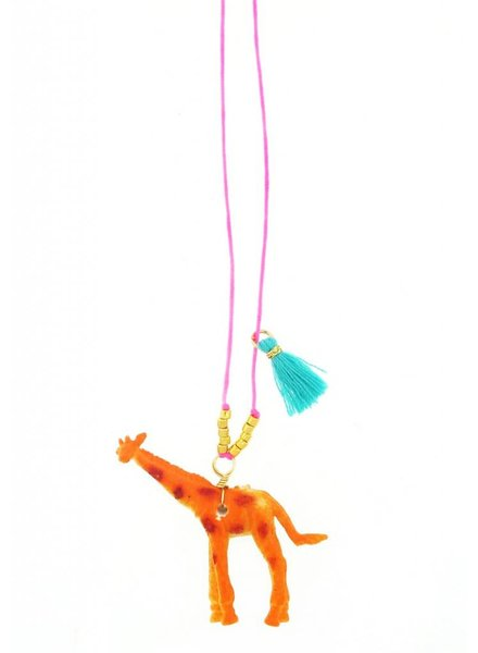 Sadie's Moon Giraffe Baby Buddy Necklace