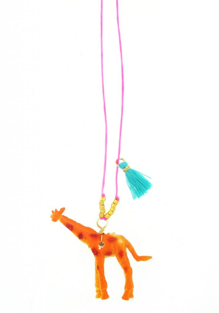 Sadie's Moon Giraffe Baby Buddy Necklace