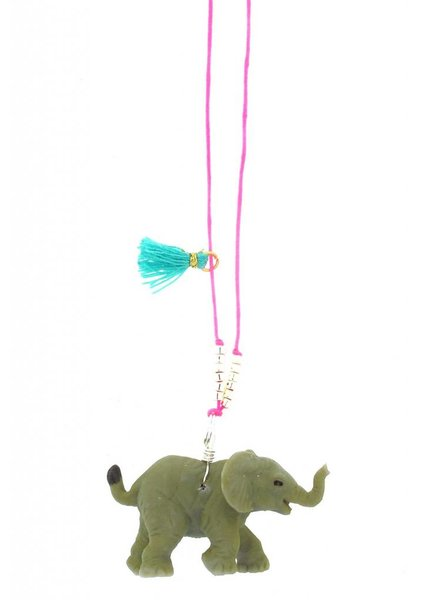 Sadie's Moon Elephant Baby Buddy Necklace