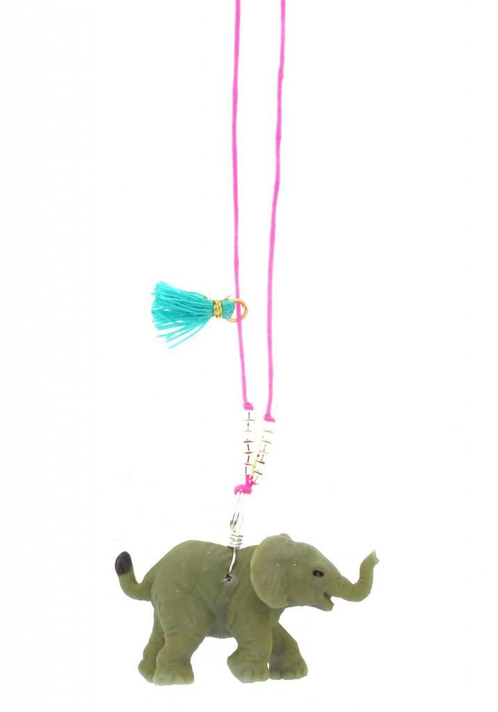 Sadie's Moon Elephant Baby Buddy Necklace