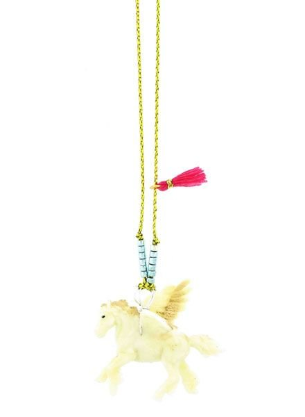 Sadie's Moon Pegasus Baby Buddy Necklace