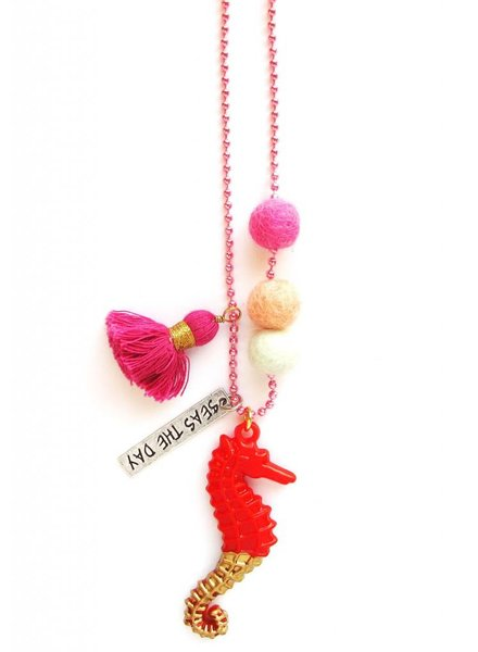 Sadie's Moon Sam The Seahorse Necklace