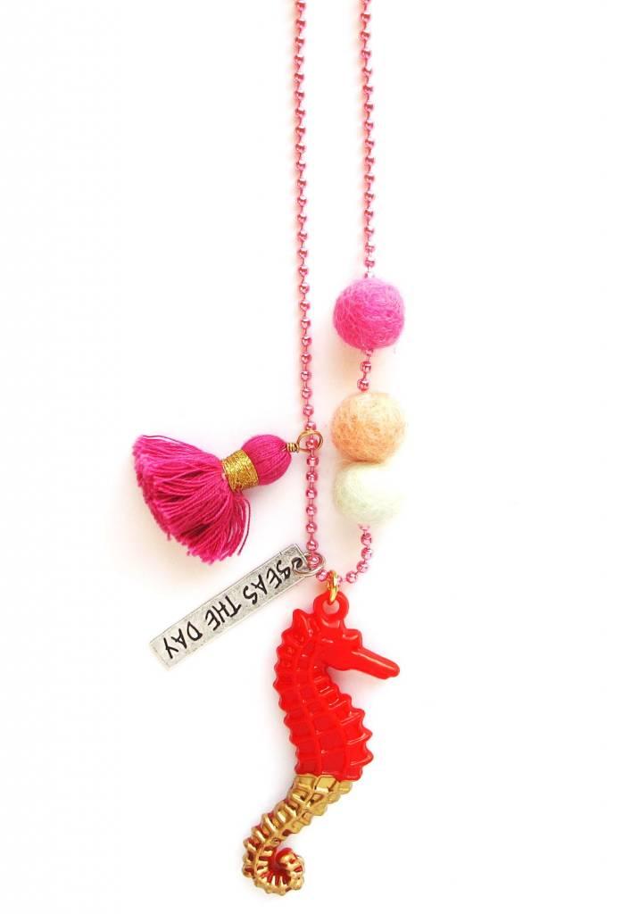Sadie's Moon Sam The Seahorse Necklace
