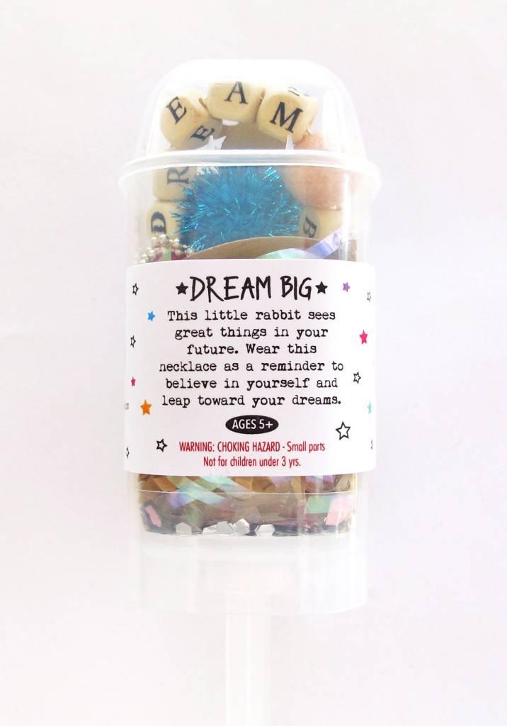 "Sadie's Moon ""Dream Big""Rabbit With Push Pop"