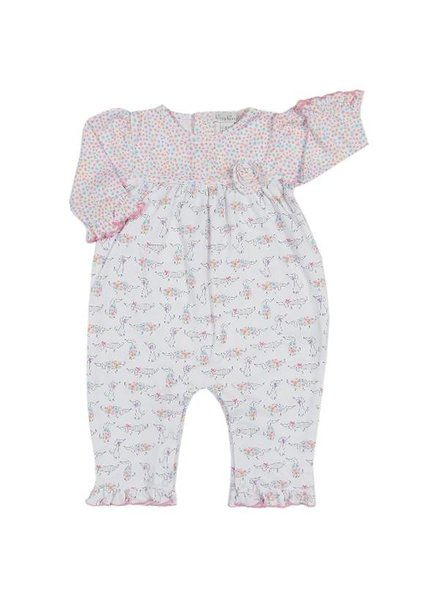 KISSY KISSY Darling Dachshunds Print Playsuit