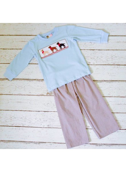 BANANA SPLIT KIDS Puppy Smocked T-shirt and Pants
