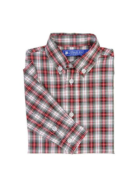 J BAILEY Whisper Plaid Button Down Shirt